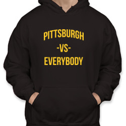 Pittsburgh vs Everybody - Unisex Gildan Midweight 50/50 Pullover Hoodie