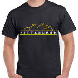 Pittsburgh Skyline - Unisex Gildan Ultra Cotton T-Shirt