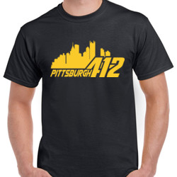 Pittsburgh 412 - Unisex Gildan Ultra Cotton T-Shirt
