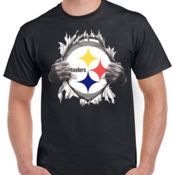 Steelers Ripping Chest - Unisex Gildan Ultra Cotton T-Shirt