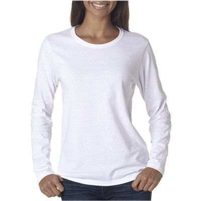 Gildan Ladies Cotton Long Sleeve Shirt (WEB/MM) Thumbnail
